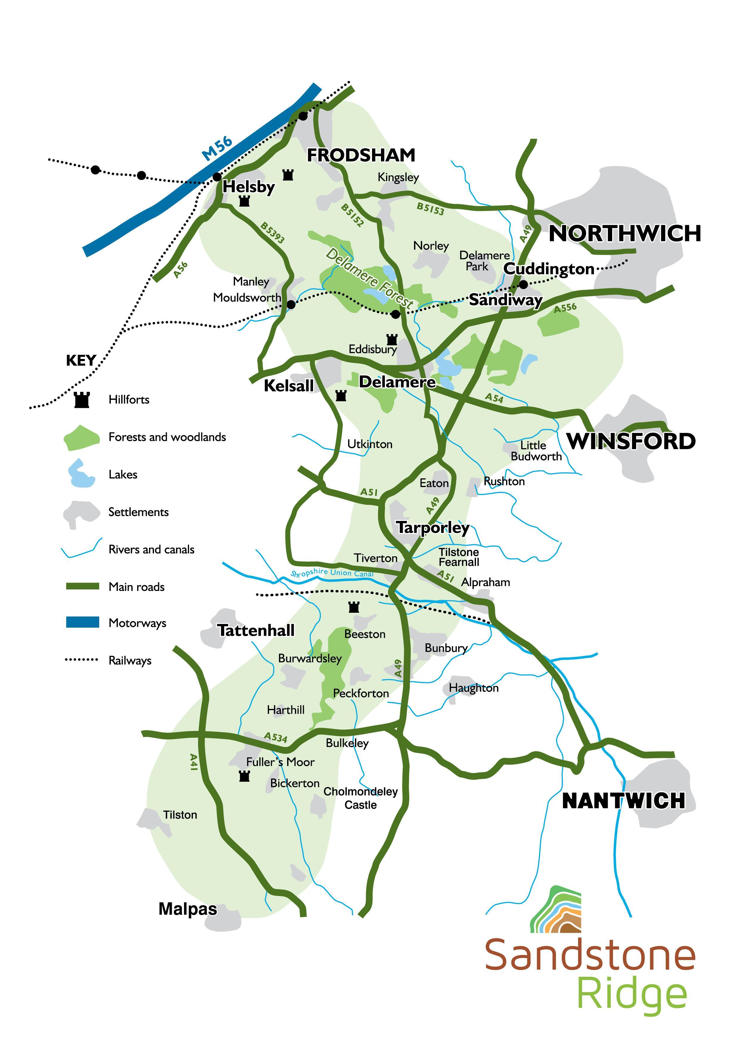Sandstone Ridge detailed map