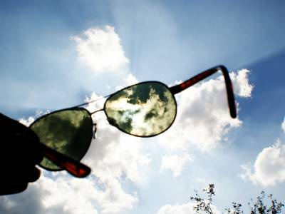 sunglasses in the sky